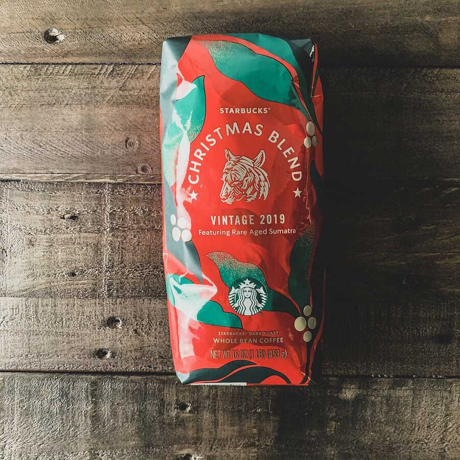 دانه قهوه استارباکس کریسمس بلند