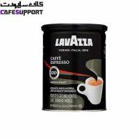 قهوه لاوازا مشکی espresso (قوطی 250 گرم)
