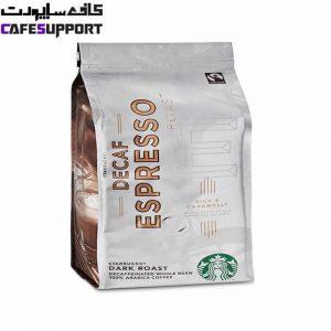 دانه قهوه استارباکس دیکف اسپرسو