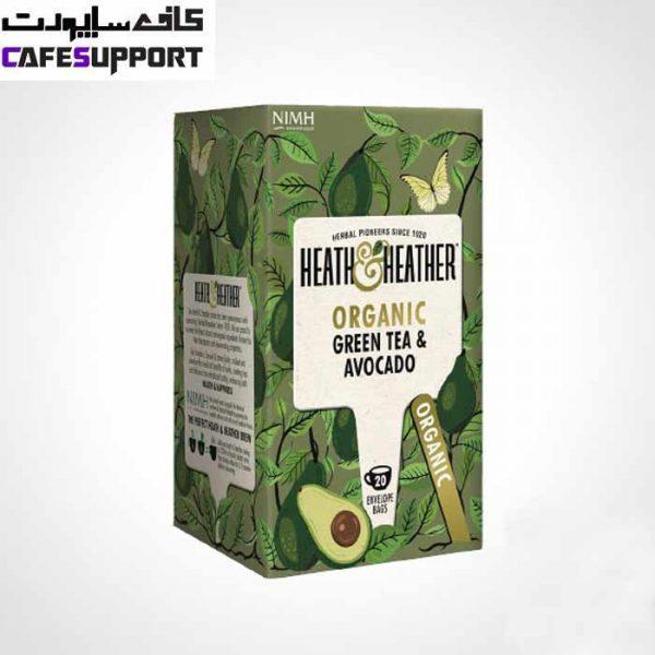 دمنوش ارگانیک چای سبز و آووکادو هیت اند هیتر