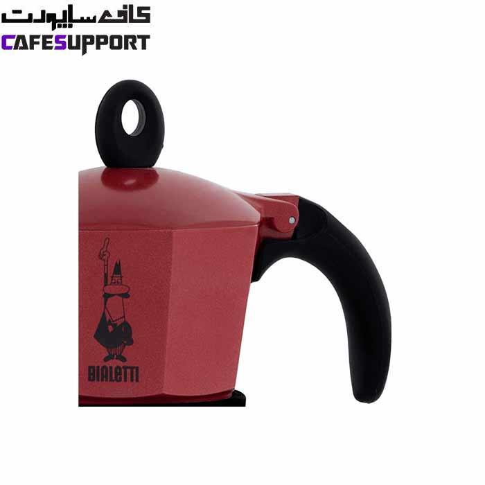 قهوه ساز بیالتی موکا اینداکشن قرمز – (3 نفره)