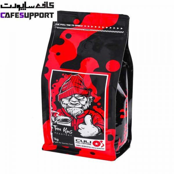 دانه قهوه 100% روبوستا کولی تام کینز