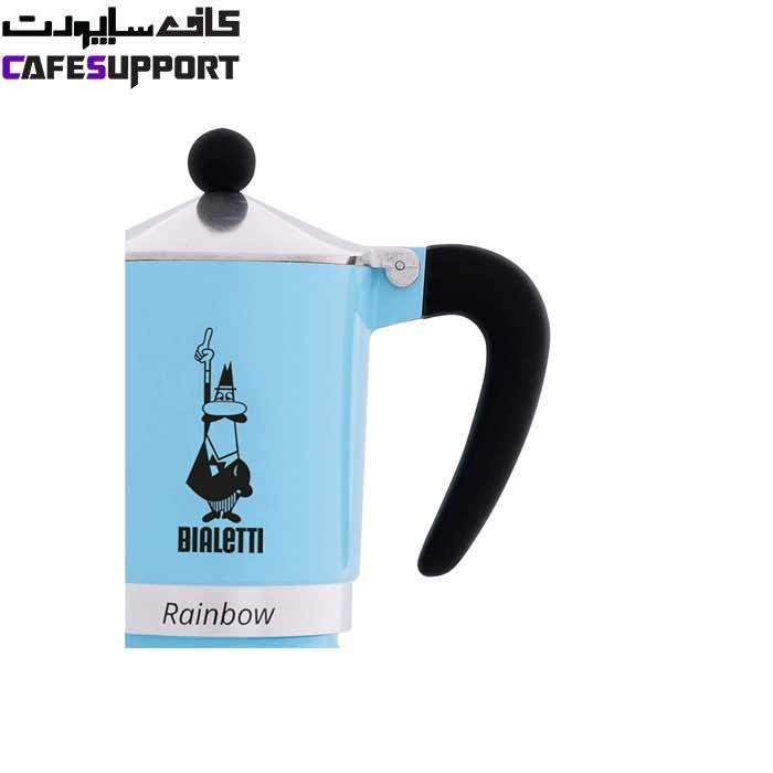 قهوه ساز بیالتی Rainbow آبی – (3 فنجان)