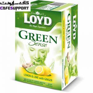 چای سبز لوید با طعم لیمو و زنجبیل