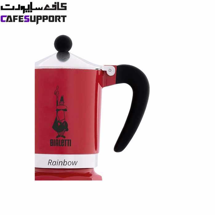 قهوه ساز بیالتی Rainbow قرمز – (3 فنجان)