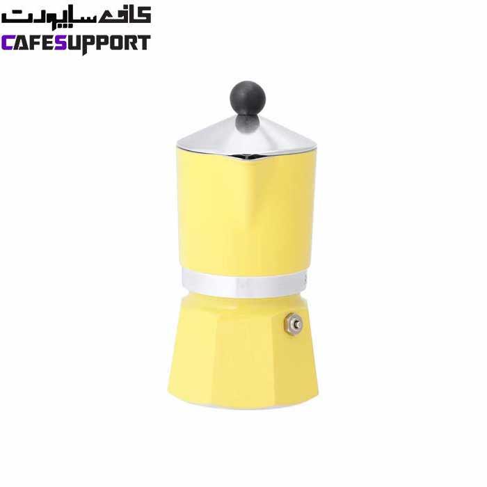 قهوه ساز بیالتی Rainbow زرد – (3 فنجان)