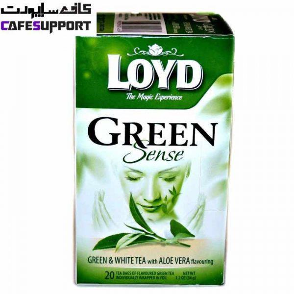 چای سبز و سفید لوید با طعم آلوئه ورا