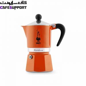 قهوه ساز بیالتی Rainbow نارنجی – (3 فنجان)