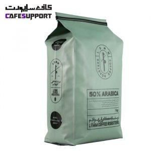 قهوه 50% عربیکا لم