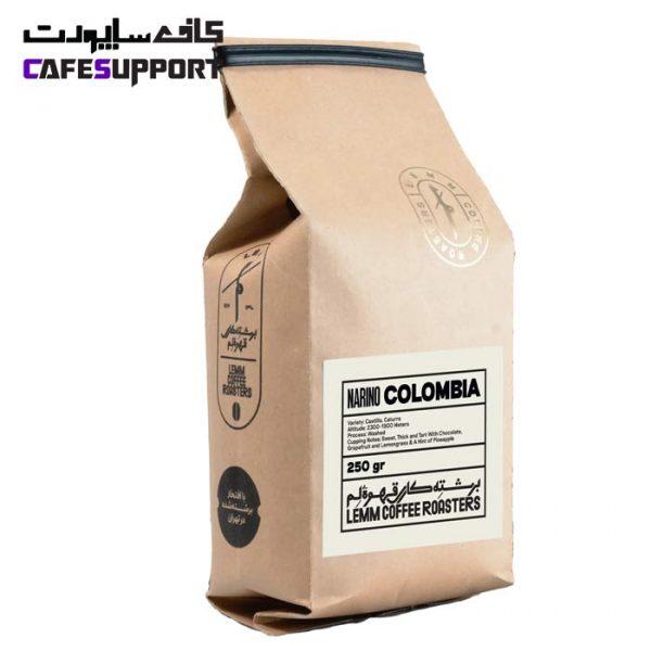 قهوه تک خاستگاه کلمبیا نارینو لم