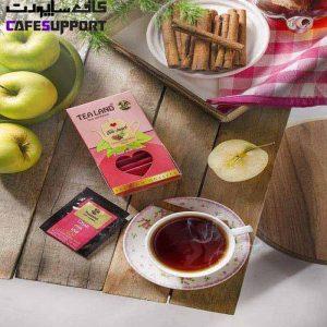 چای کیسه ای سیب و دارچین تی لند (بسته 20 عددی)