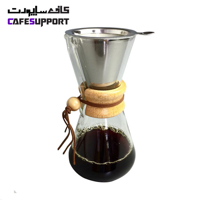 قهوه ساز طرح کمکس 3 کاپ با فیلتر فلزی