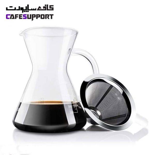 قهوه ساز کمکس دسته دار فیلتر استیل 400 میلی لیتر